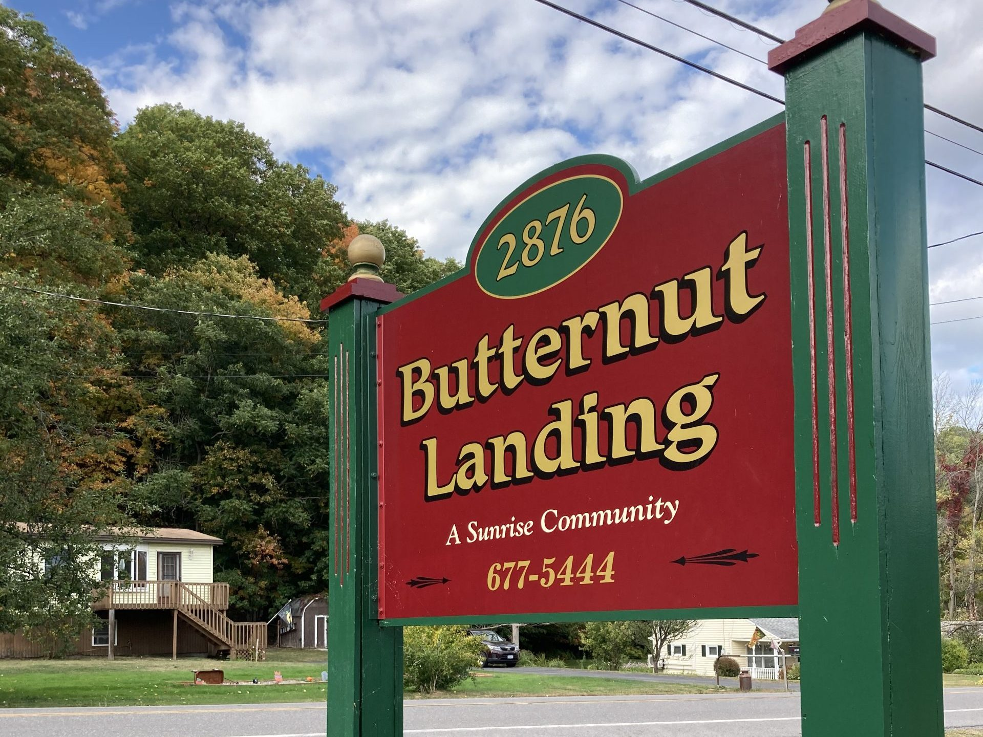 Butternut Landing Community Sign