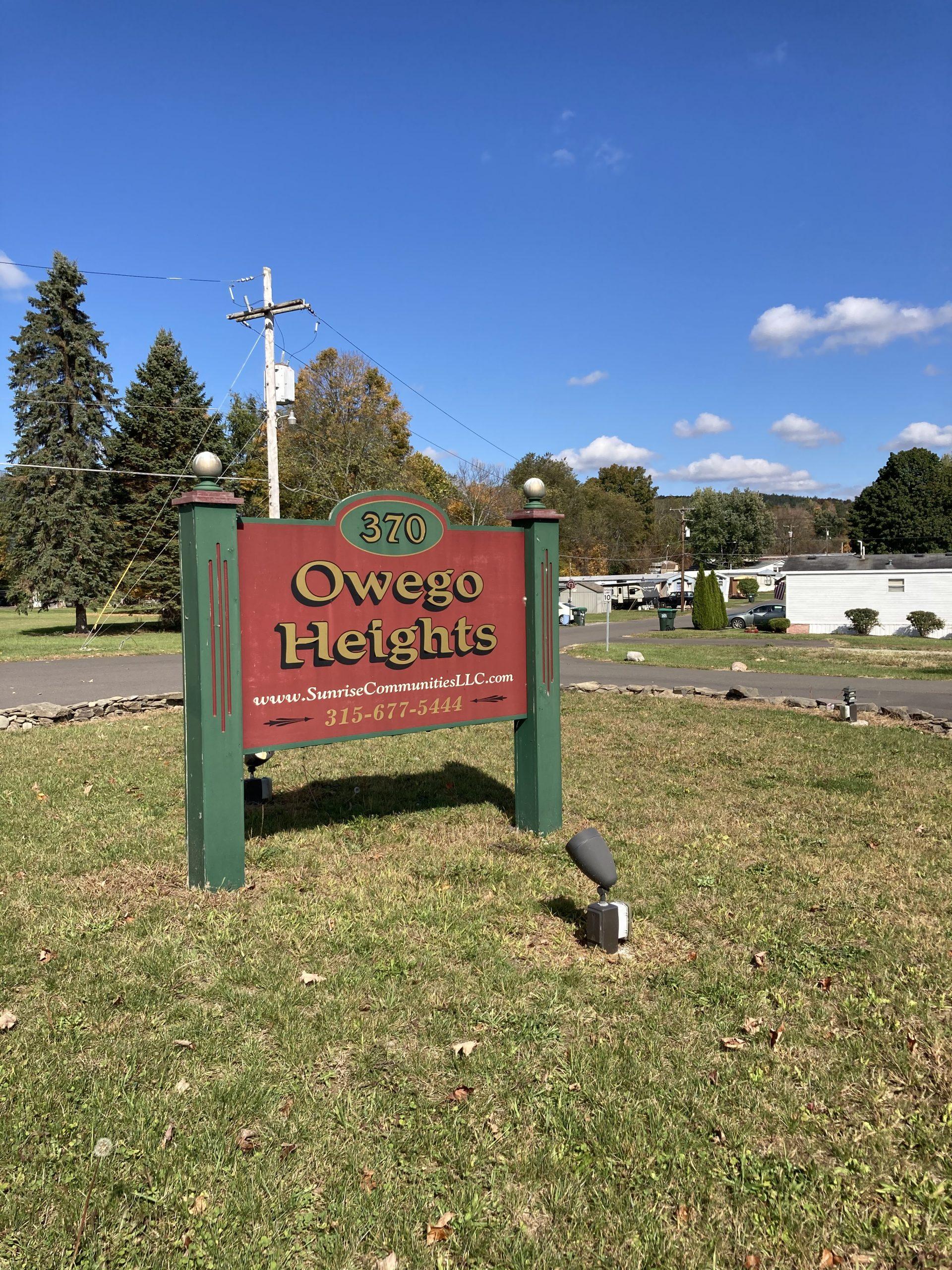 Owego Heights Sign