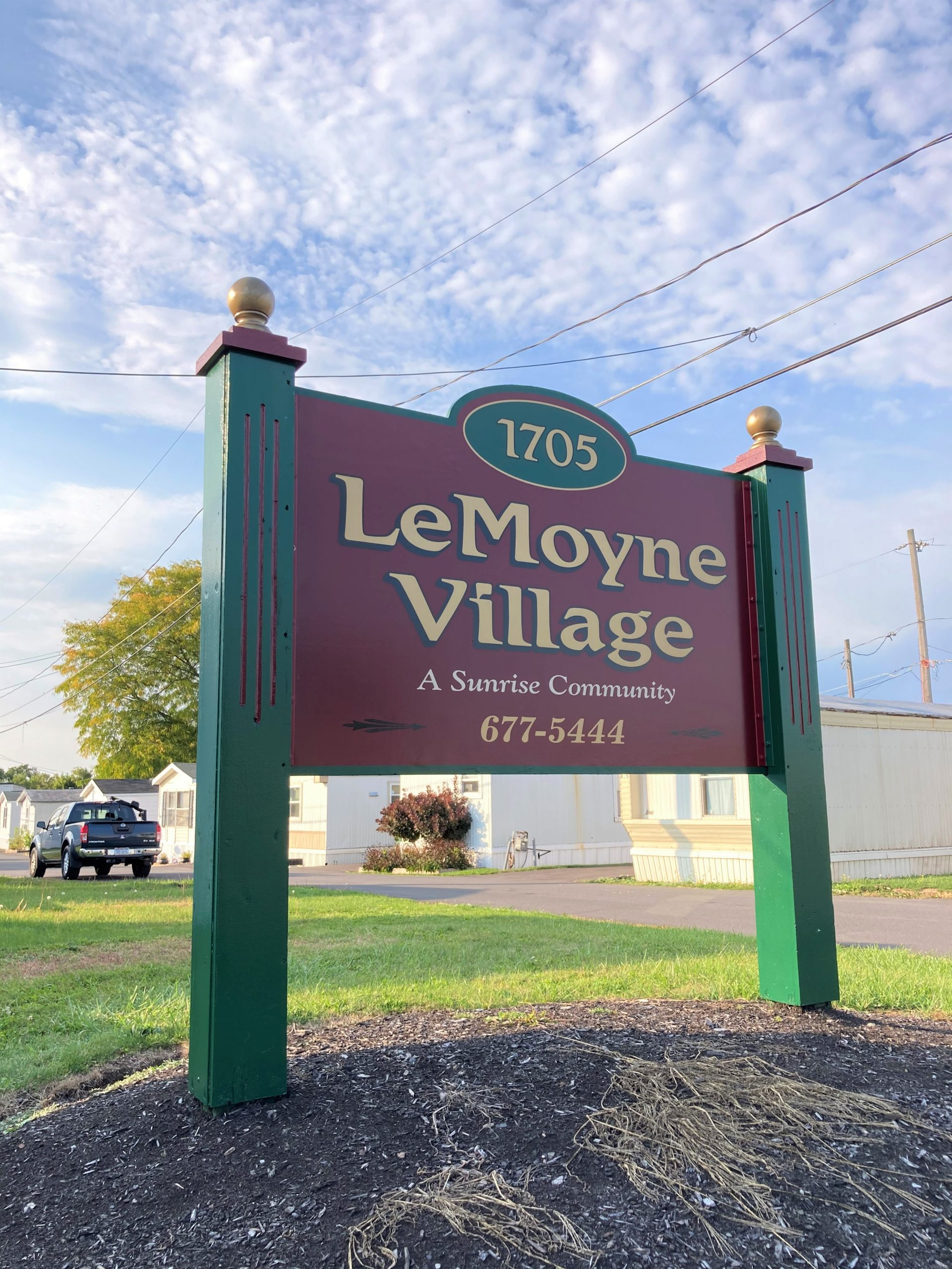 LeMoyne Village Sign
